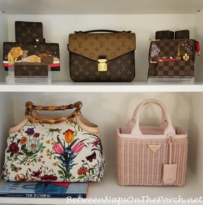 Louis Vuitton Reverse Pochette Metis, Prada Basket Bag, Gucci Flora Bag