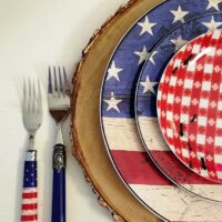 Mixing Flatware in Table Settings, 4th of July Table