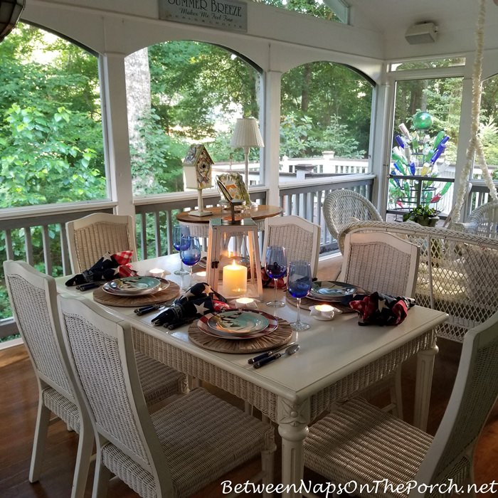 Porch Table Setting, Porch Dining