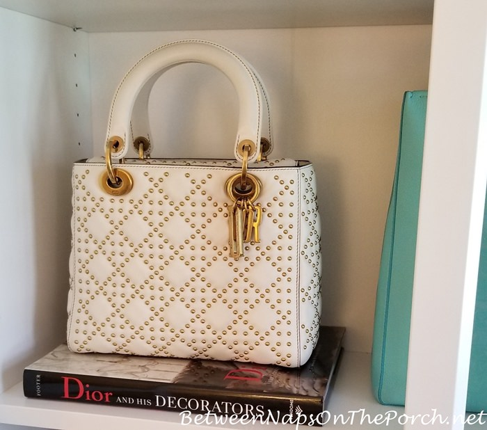 Studded Lady Dior with Dior Book, Handbag Storage with Fashion Books
