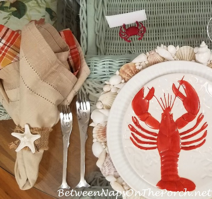 Fish Flatware, Shell Napkin Rings Lobster Salad Plate