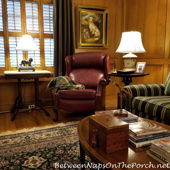 Lamp for a Paneled Living Room