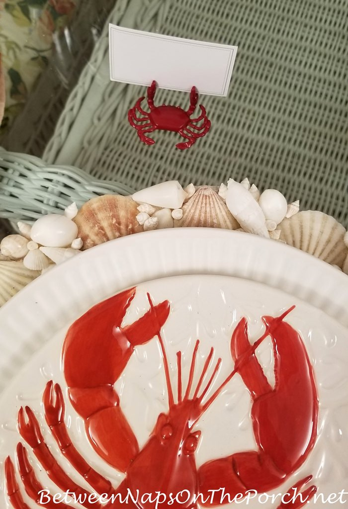 Lobster Plate, Crab Placecard