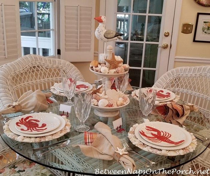 Seaside Table, Crab & Lobster Plate