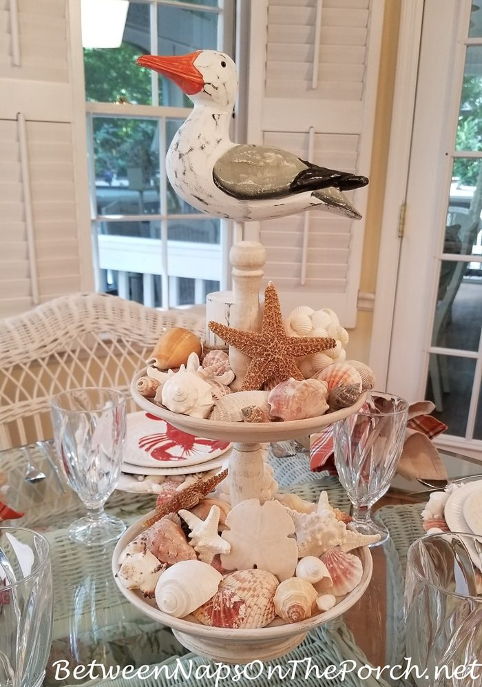 Shell Centerpiece, Tiered Stand