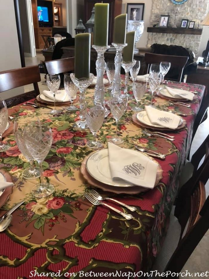 Beautiful Autumn Table with Waterford Crystal & Lenox Eternal Platinum