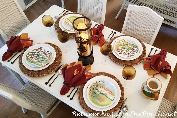 Dinnerware Made in Italy, Fall Table