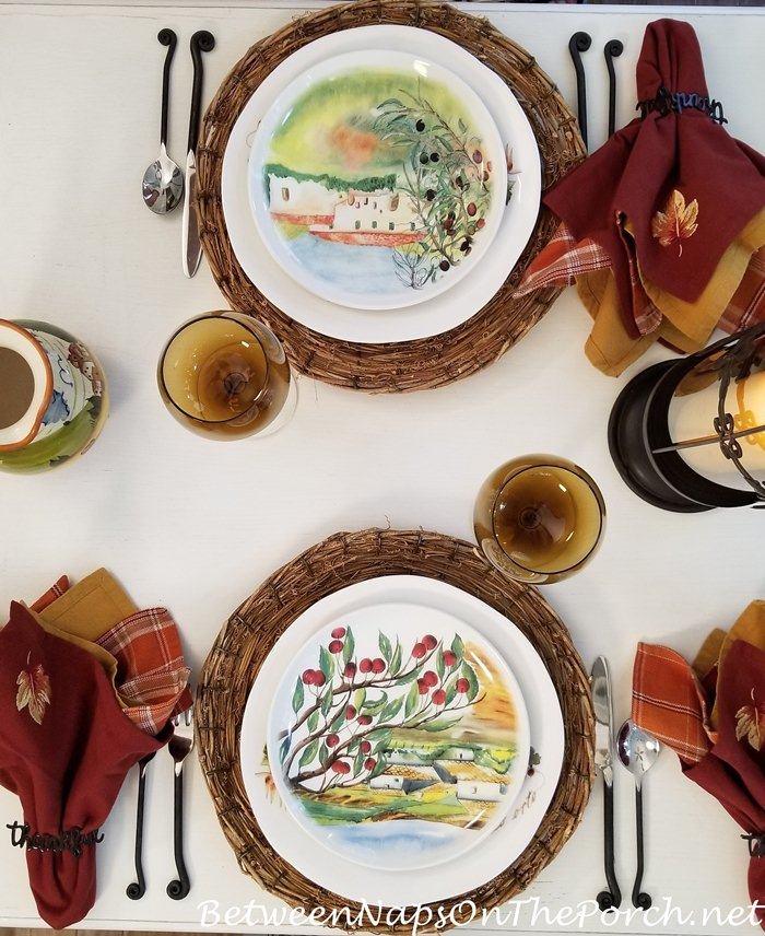 End of Summer, Early Fall Table Setting