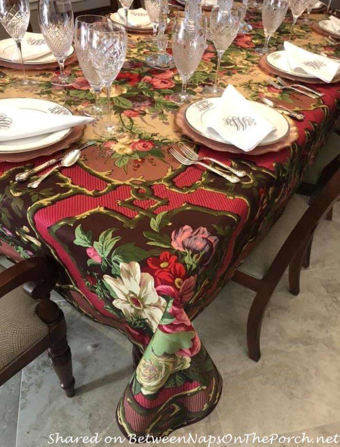 Gorgeous Beauville Tablecloth, Igor Cardinal