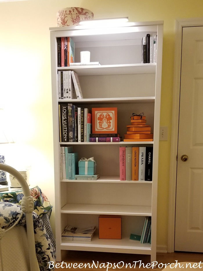 Hemnes Bookcase with Added Light