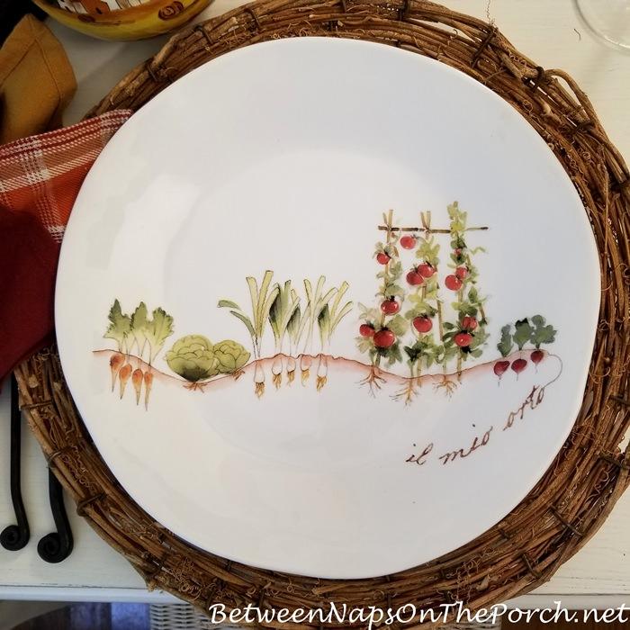 Late Summer Garden, Italy Garden Themed Dinnerware