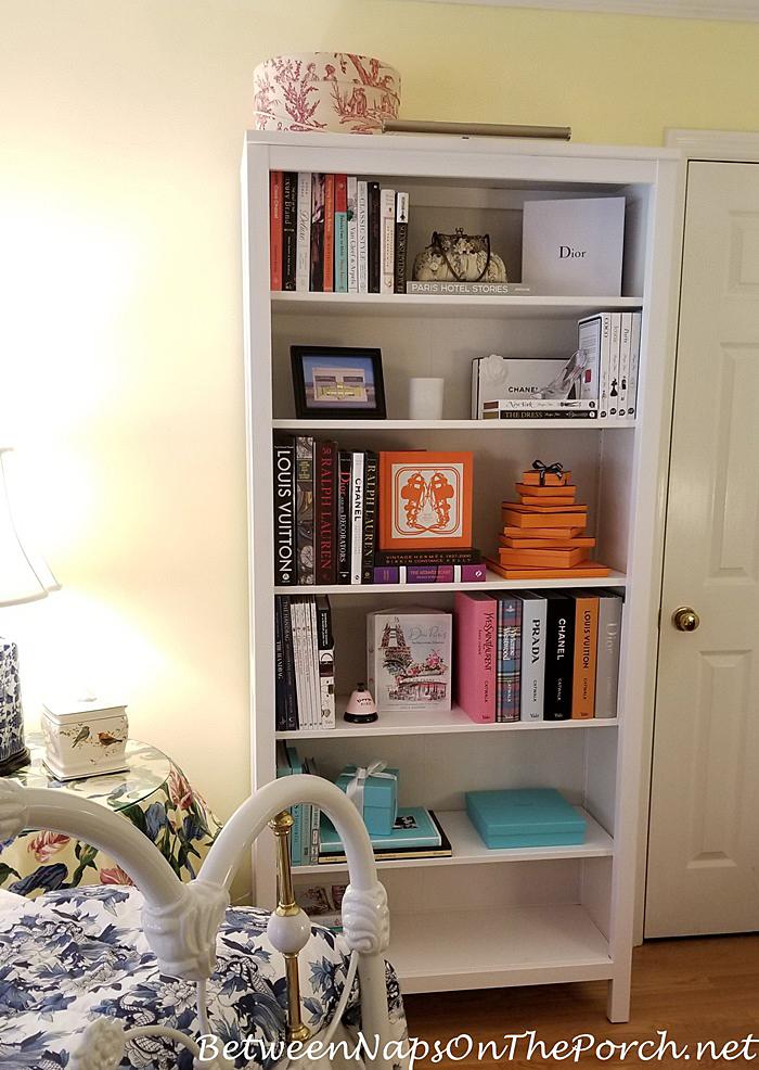 Styling Bookshelf with Fashion Books, Louis Vuitton, Prada, Dior, Yves Saint Laurent, Chanel