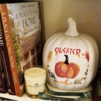 Sweater Weather Pumpkin, Fall Decor