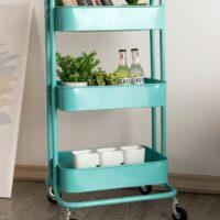 3-shelf book cart