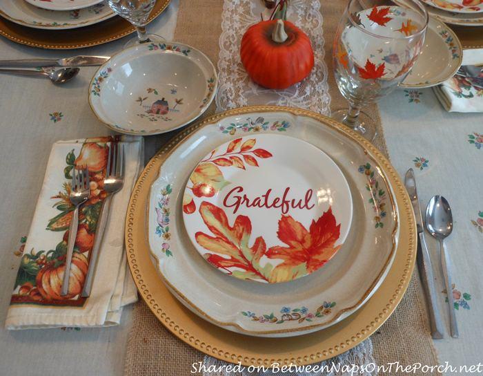 Autumn Plates, Grateful Leaf Plates