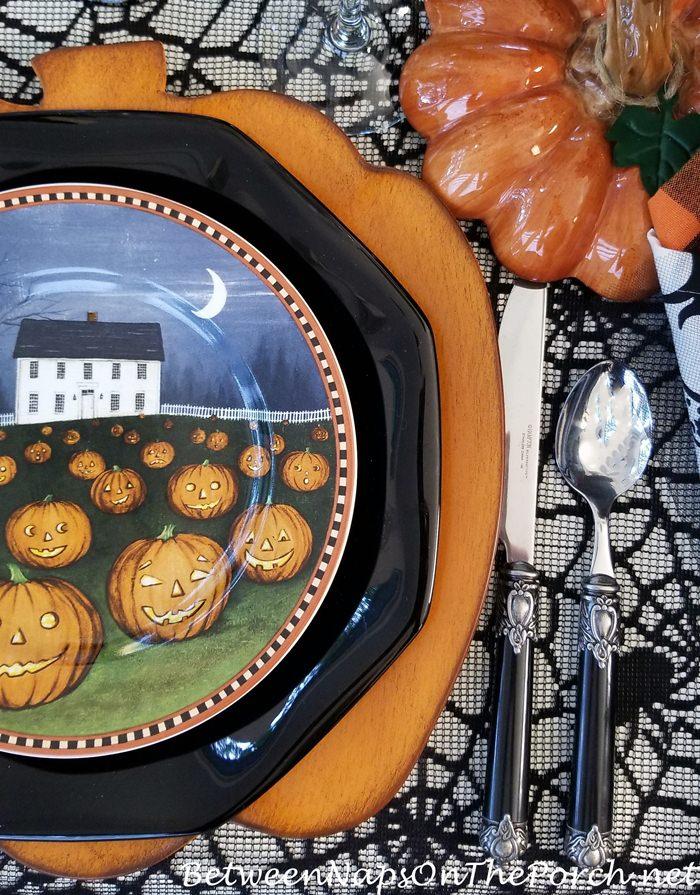 Black Flatware for Halloween