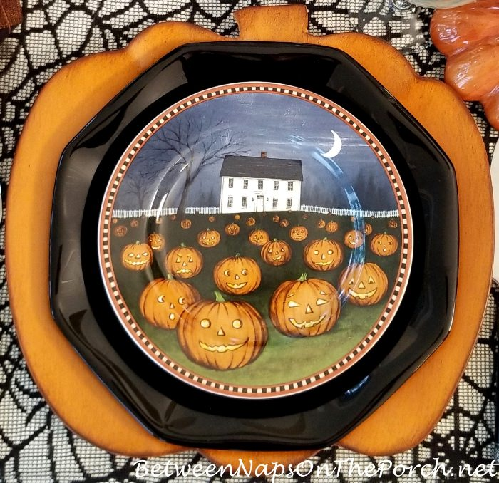 David Carter Brown Pumpkin Hollow Plates