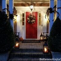 Decorate a porch for Halloween