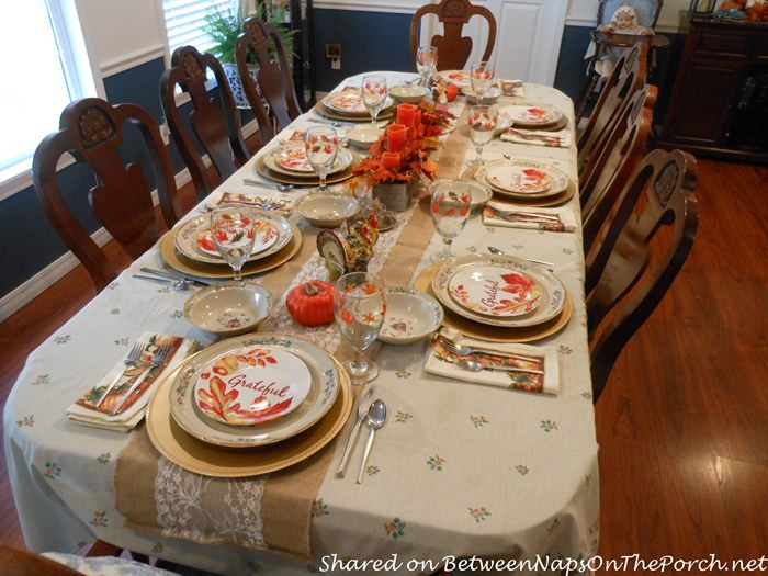 Fall Table, Candle Autumn Centerpiece