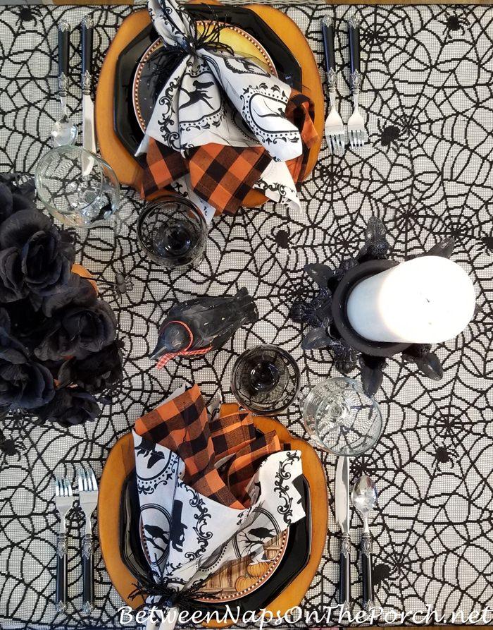 Halloween Spider Tablecloth