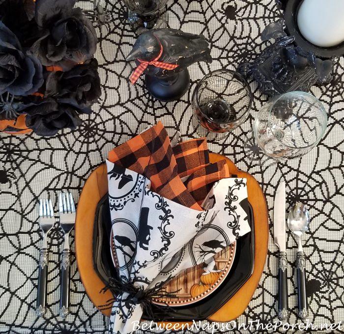 Halloween Tablescape, Halloween Napkins