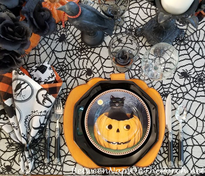 Spider Tablecloth for Halloween