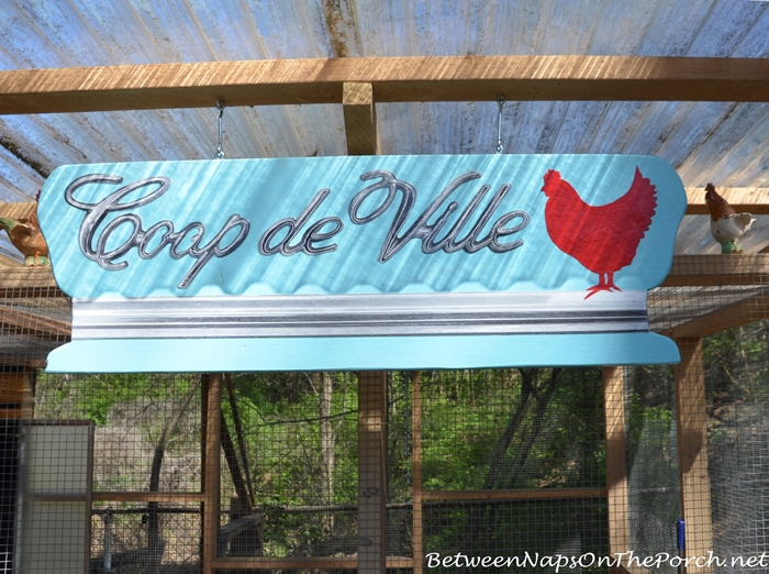 Chicken Coop Sign on the Urban Coop Tour
