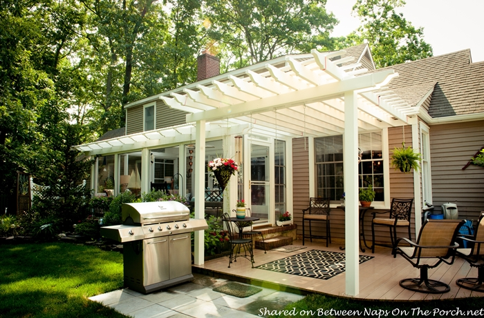 An ordinary patio becomes a beautiful three season porch for Three season room plans