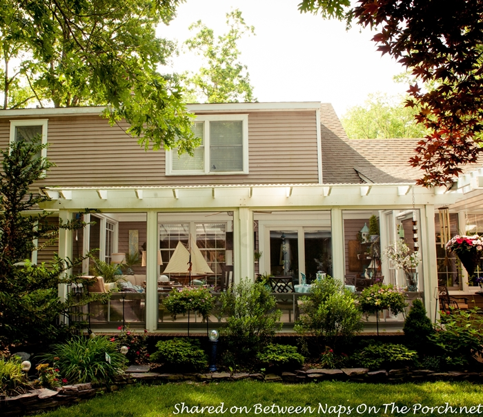 An ordinary patio becomes a beautiful three season porch for 2 season porch