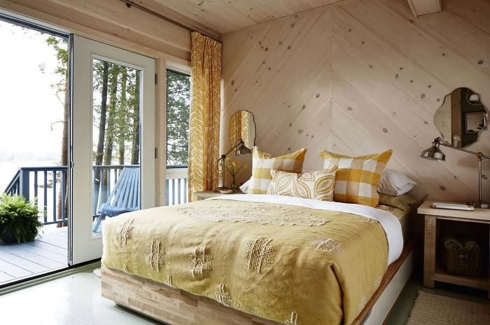 Guest Bedroom in Sarah Richardson's Cottage Home on Parry Sound