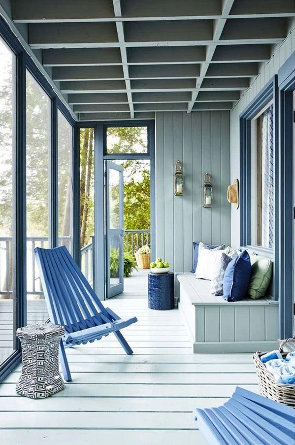 Sarah Richardson Cottage for Rent, Back Porch