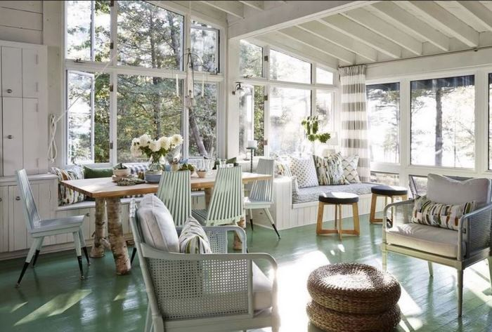 Sarah Richardson's Cottage Living Room on Georgian Bay