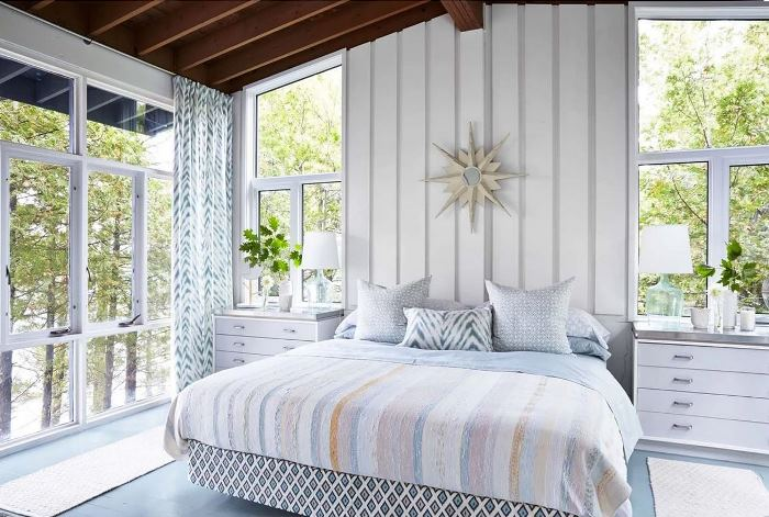 Sarah Richardson's Master Bedroom Rental Cottage, Georgian Bay