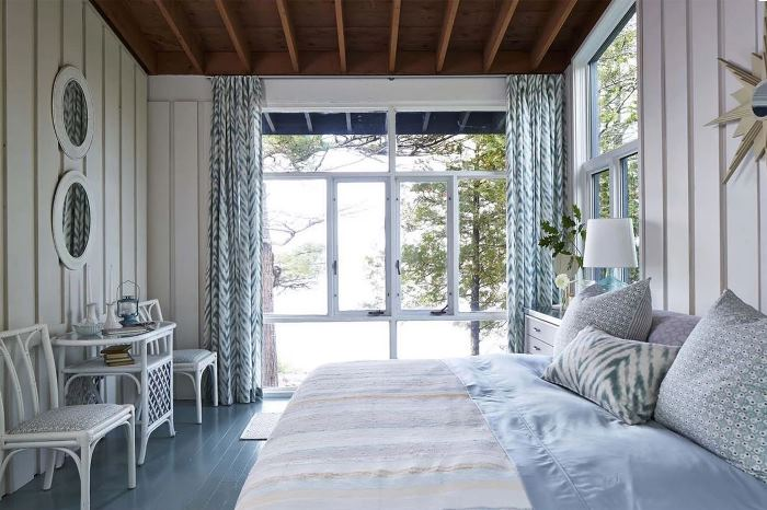 Sarah Richardson's Master Bedroom on Georgia Bay, Parry Sound