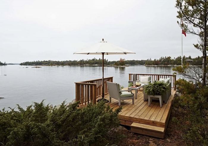 View from Deck of Parry Sound from Sarah Richardson's Rental Cottage