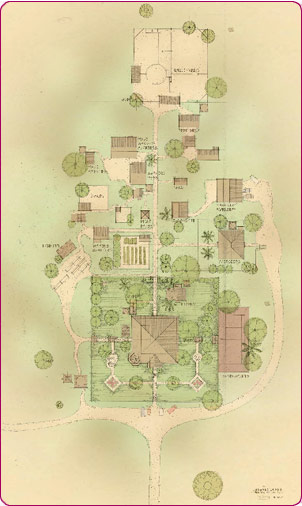 Garden Plan for Faraway Downs in Australia Movie