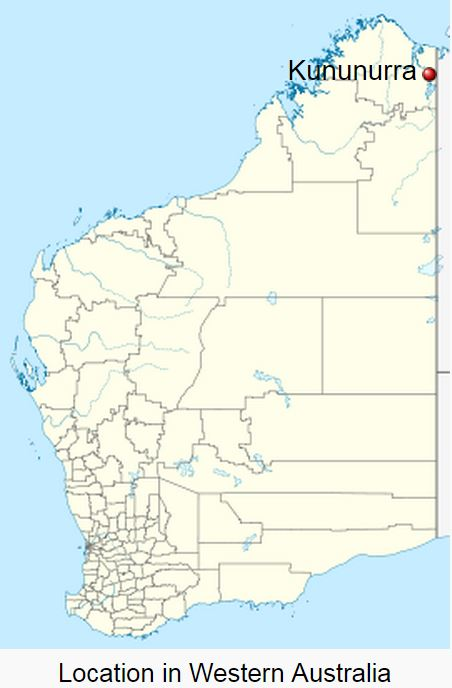 Map of Australia Kununurra