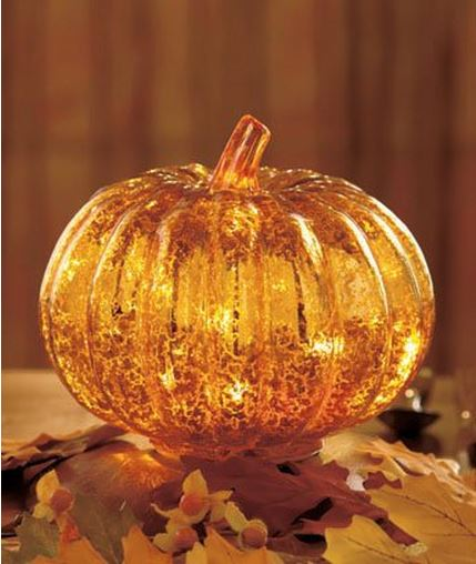 Glass Lit Pumpkin