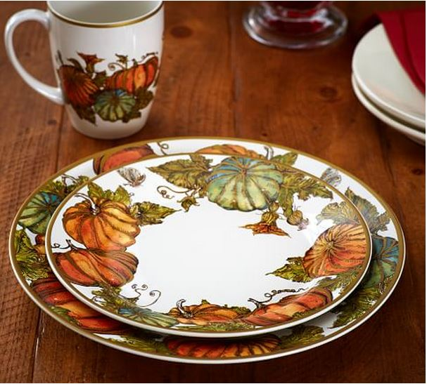 Pumpkin Plates for Fall and Halloween