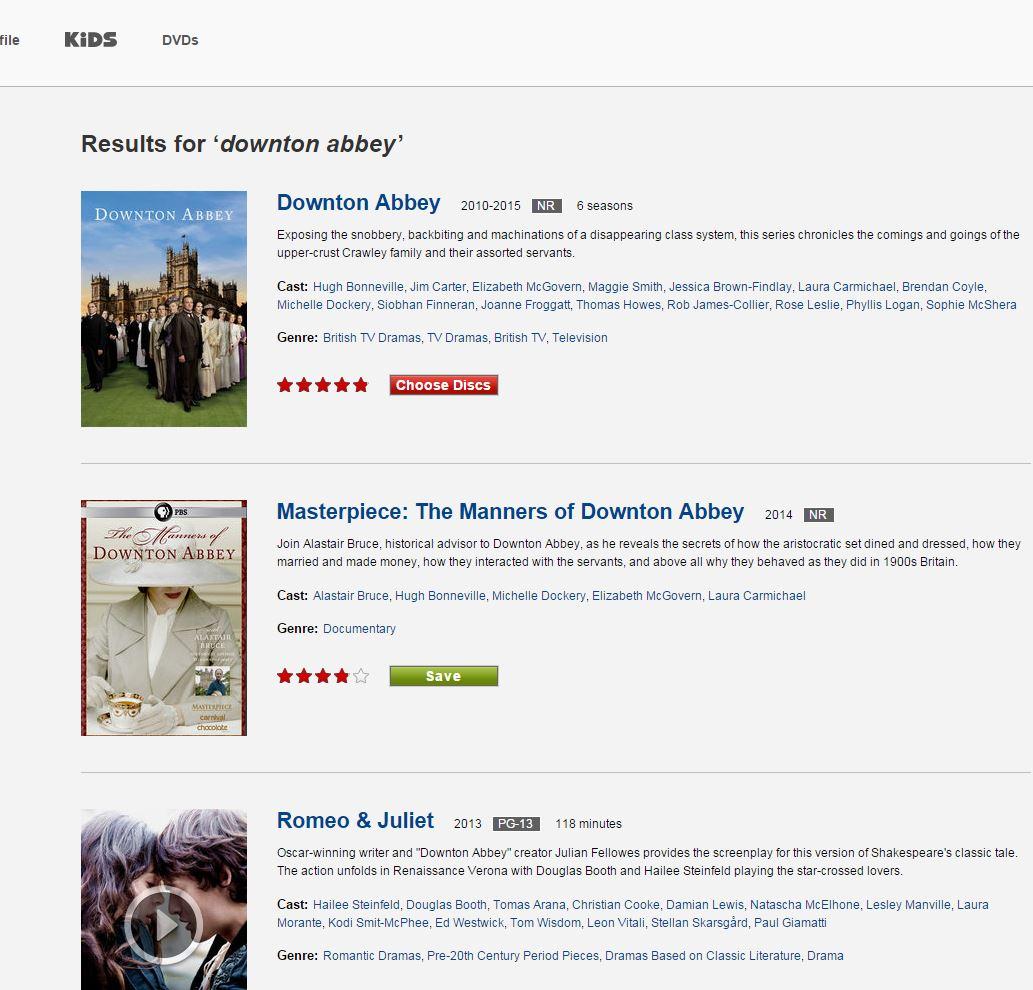 Downton Abbey on Netflix