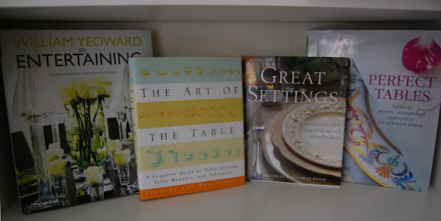 Books about entertaining and setting beautiful tables