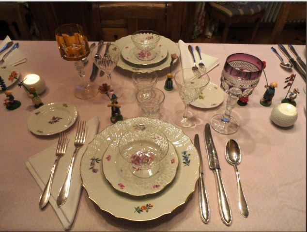 A Beautiful Herend And Royal Copenhagen Tablescape