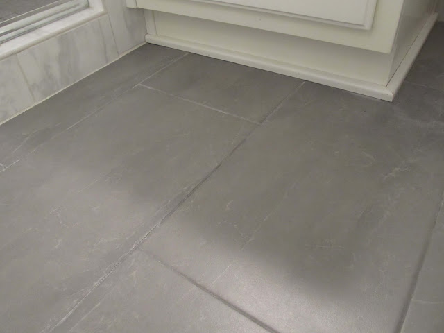 Tile floor for bathroom renovation