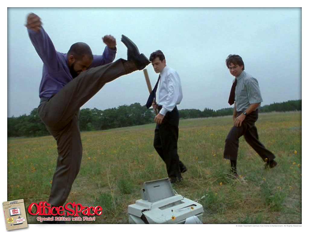 office space computer. Perfect Office Do You Pay 65 To Have The Hard Drive Wiped Or Do Take Them Apart And  Reenact This Hilarious Scene From Movie Office Space Intended Space Computer
