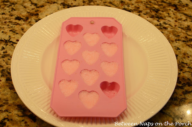 Colored Heart Sugar Cubes for Tea Party