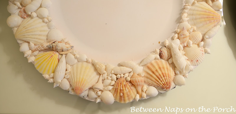 Pottery Barn Knock-off Shell Chargers: Make Your Own