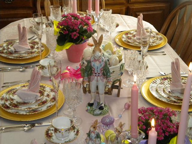 Easter Table Settings Tablescapes With Old Country Roses