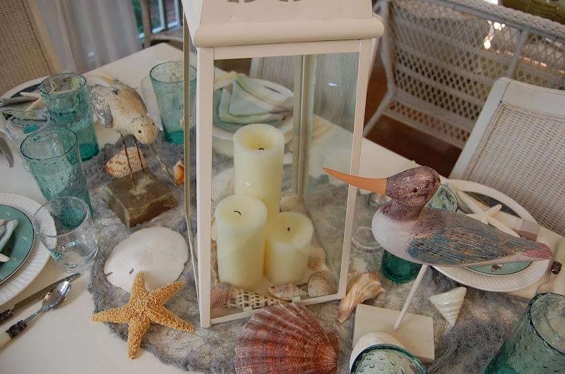 Beach Themed Table Setting with Warren Kimble Coastal Breeze Plates