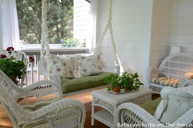 Seating Group with Swing on the Porch