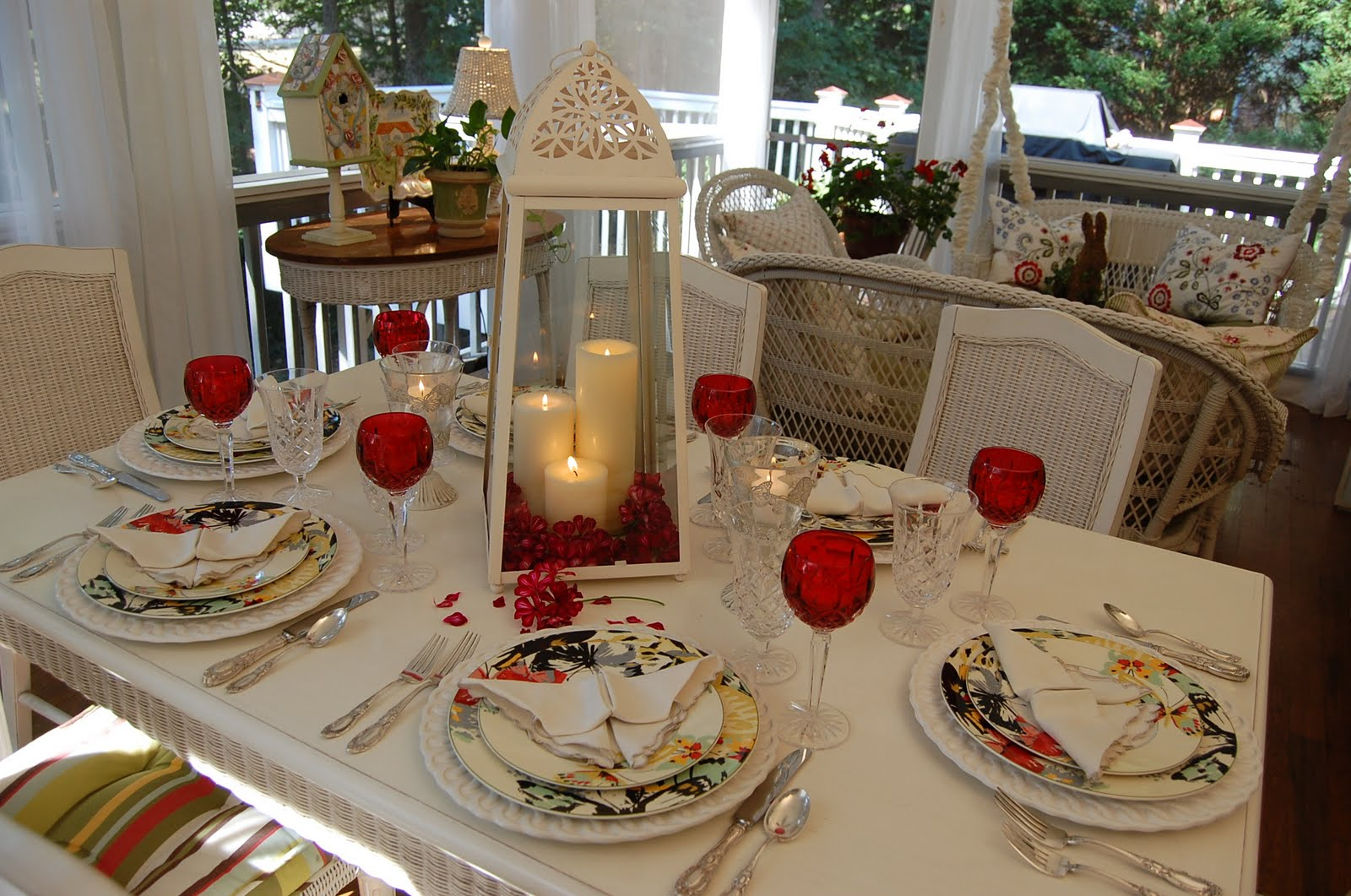 Romantic Candlelight Table Setting